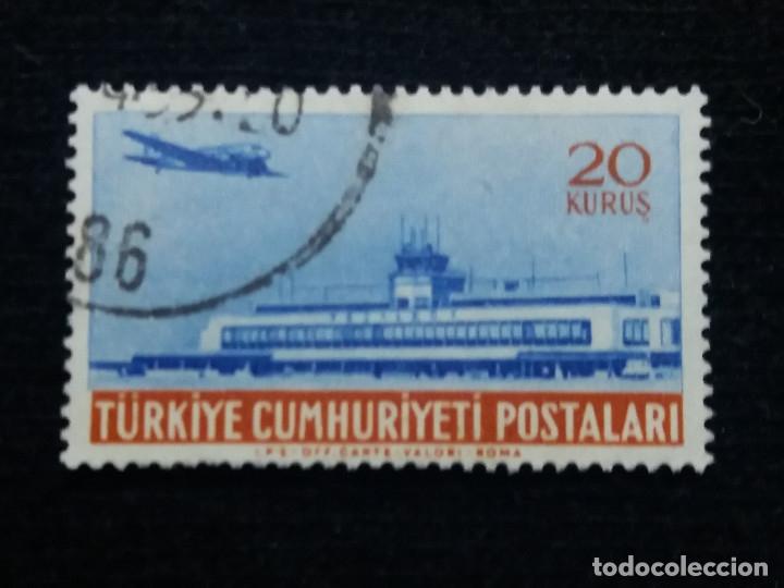 TURQUIA, 20 KURUS, POSTAL AEREO, AÑO 1959, SIN USAR (Sellos - Extranjero - Europa - Turquía)