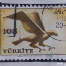 Sellos: TURQUIA, 105 KURUS, POSTAL ARERO, AÑO 1958, SIN USAR. Lote 176128104