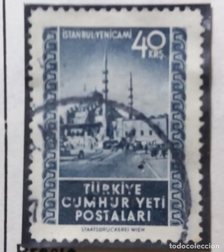 TURQUIA, 1 KURUS, MEZQUIUTAS, AÑO 1950, SIN USAR (Sellos - Extranjero - Europa - Turquía)