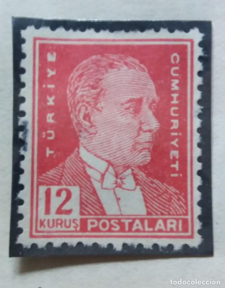 TURQUIA, 12 KURUS, KAMAL ATATURK,, AÑO 1953, SIN USAR (Sellos - Extranjero - Europa - Turquía)