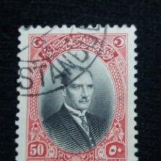 Sellos: TURQUIA, 50 KURUS, KAMAL ATATURK, AÑO 1929, SIN USAR. Lote 176212960