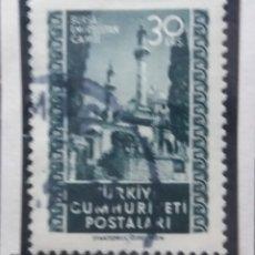 Sellos: TURQUIA, 30 KURUS, MEZQUITAS, AÑO 1950, SIN USAR. Lote 176213312