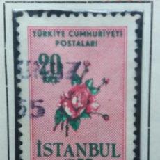 Sellos: TURQUIA, 20 KURUS, STANBUL, AÑO 1955, SIN USAR. Lote 176213400