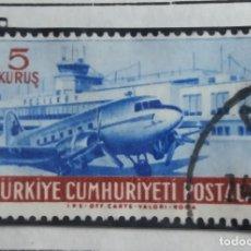 Sellos: TURQUIA, 5 KURUS, CORREO AEREO, AÑO 1958, SIN USAR. Lote 176287405