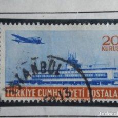 Sellos: TURQUIA, 20 KURUS, CORREO AEREO, AÑO 1958, SIN USAR. Lote 176287453