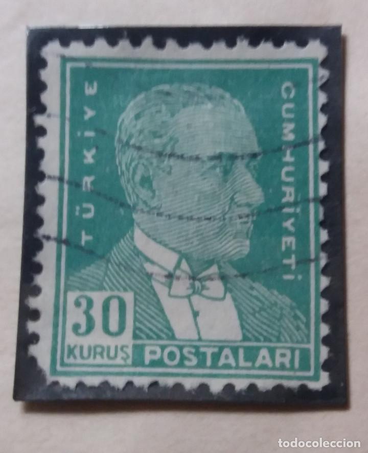 TURQUIA, 30 KURUS, KAMAL ATATURK, AÑO 1951, SIN USAR (Sellos - Extranjero - Europa - Turquía)