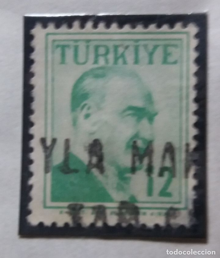 TURQUIA, 12 KURUS, KAMAL ATATURK, AÑO 1975, SIN USAR (Sellos - Extranjero - Europa - Turquía)