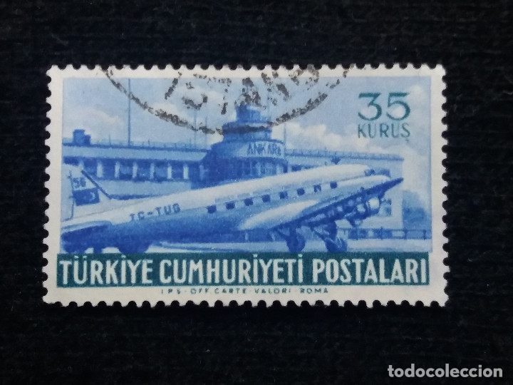 TURQUIA, 35 KURUS, POSTAL AEREO, AÑO 1949, SIN USAR (Sellos - Extranjero - Europa - Turquía)