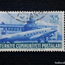 Sellos: TURQUIA, 35 KURUS, POSTAL AEREO, AÑO 1949, SIN USAR. Lote 176288850