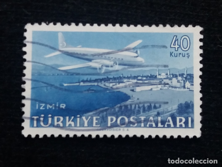 TURQUIA, 40 KURUS, POSTAL AEREO, AÑO 1949, SIN USAR (Sellos - Extranjero - Europa - Turquía)