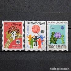 Sellos: TURQUÍA 1979 ~ AÑO INTERNACIONAL DEL NIÑO ~ SERIE NUEVA MNH LUJO. Lote 178782860