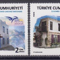 Sellos: TURQUIA 2018 EUROMED CASAS TIPICAS DEL MEDITERRANEO ARQUITECTURA. Lote 179196717