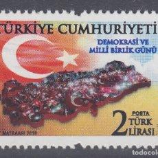 Sellos: TURQUIA 2018 DIA NACIONAL DE LA SOLIDARIDAD Y LA DEMOCRACIA. Lote 179198305
