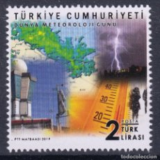 Sellos: TURQUIA 2019 DIA MUNDIAL DE LA METEOROLOGIA. Lote 180494841