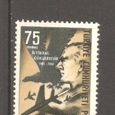 Sellos: TURQUIA, 1961,1 VALOR,G.ORIGINAL,SIN FIJASELLOS,NUEVO. YET 1593. . Lote 186433518