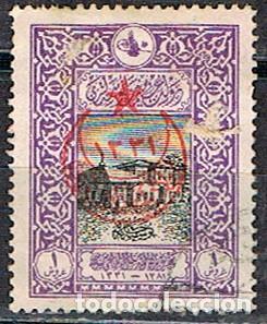 TURQUIA Nº 401 (AÑO 1916) ANTIGUA OFCINA CENTRAL DE CORREOS, SOBRECARGADO, USADO (Sellos - Extranjero - Europa - Turquía)