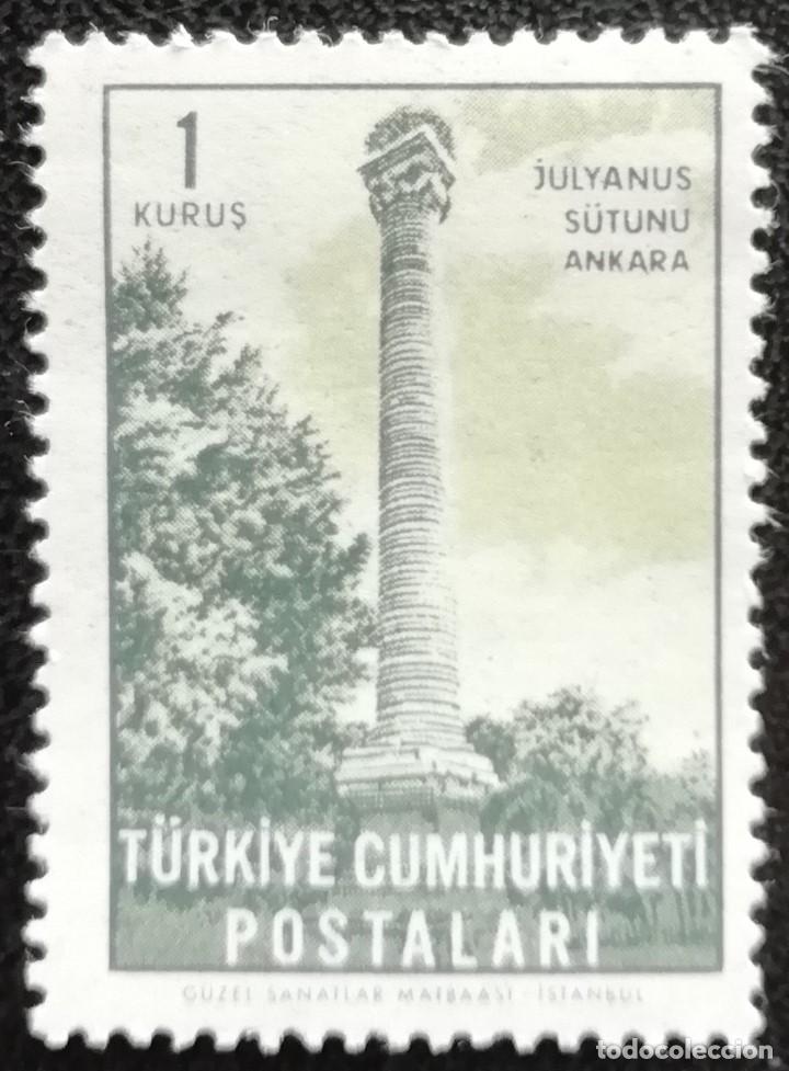 1963. TURQUÍA. 1638. TURISMO. HISTORIA. COLUMNA DE JULIANO. NUEVO. (Sellos - Extranjero - Europa - Turquía)