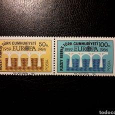 Sellos: CHIPRE TURCO (TURQUÍA) YVERT 127/8 SERIE COMPLETA NUEVA ***. EUROPA CEPT. PUENTES.. Lote 194965025