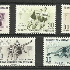 Sellos: TURKEY 1960 SPORT, OLYMPIC GAMES, ROME, MNH S.494. Lote 198278603