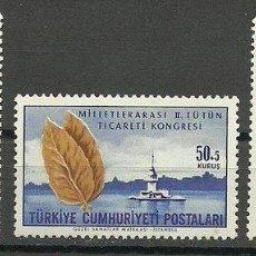 Sellos: TURKEY 1965 TOBACCO TRADE CONGRESS, MNH S.492. Lote 198278628