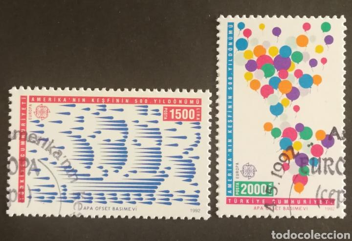 TURQUÍA, EUROPA CEPT 1992,DESCUBRIMIENTO DE AMÉRICA, USADOS (FOTOGRAFÍA REAL) (Sellos - Extranjero - Europa - Turquía)