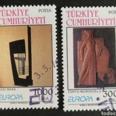 Sellos: TURQUIA, EUROPA CEPT 1993, ARTE CONTEMPORÁNEO, USADA (FOTOGRAFÍA REAL). Lote 203312272