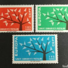 Sellos: TURQUIA, EUROPA CEPT 1962 MNH (FOTOGRAFÍA REAL). Lote 204110412