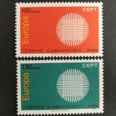 Sellos: TURQUIA, EUROPA CEPT 1970 MNH(FOTOGRAFÍA REAL). Lote 204115238