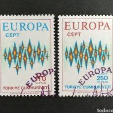 Sellos: TURQUIA, EUROPA CEPT 1972 USADA (FOTOGRAFÍA REAL). Lote 204118008