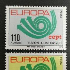 Sellos: TURQUIA, EUROPA CEPT 1973 MNH (FOTOGRAFÍA REAL). Lote 204119921