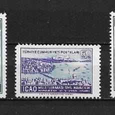 Sellos: TURQUÍA, CONGRESO DE AVIACIÓN CIVIL,1950,YVERT 19-21 AÉREO, NUEVO,MNH**. Lote 206277146