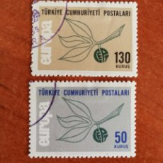 Sellos: TURQUIA, EUROPA CEPT 1965 USADO (FOTOGRAFÍA REAL). Lote 212579865
