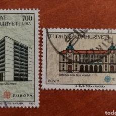 Timbres: TURQUIA, EUROPA CEPT 1990 USADO (FOTOGRAFÍA REAL). Lote 213731646