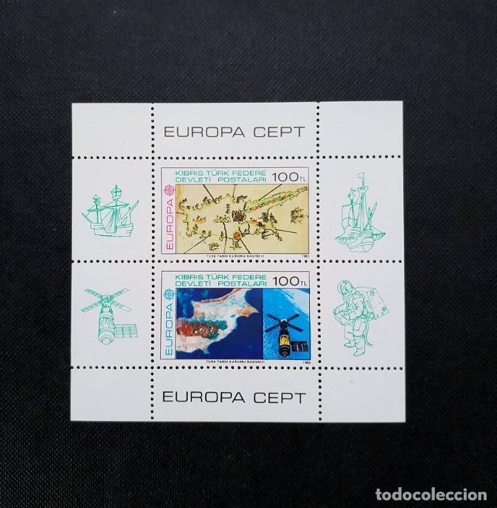 MINIHOJA CHIPRE TURCO 1983, INVENTOS (Sellos - Extranjero - Europa - Turquía)