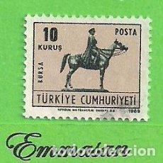 Timbres: TURQUÍA - MICHEL 2155 - YVERT 1930 - SELLO DE TARJETA DE SALUDOS. (1969).. Lote 214663378