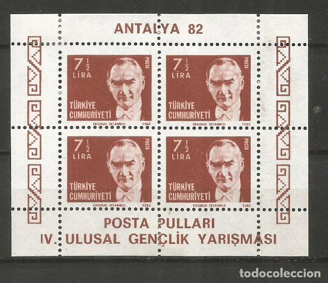 TURQUIA HOJA BLOQUE YVERT NUM. 24 * NUEVA CON FIJASELLOS (Sellos - Extranjero - Europa - Turquía)