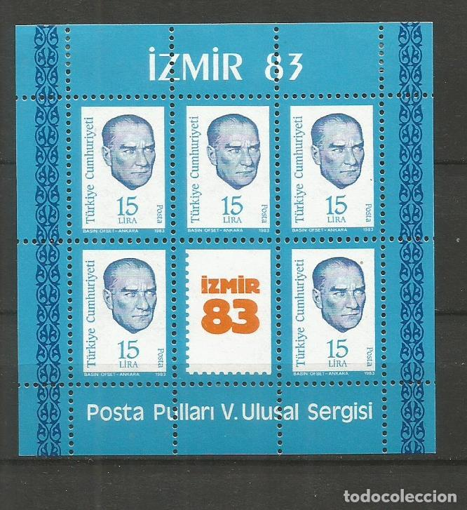 TURQUIA HOJA BLOQUE YVERT NUM. 25 * NUEVA CON FIJASELLOS (Sellos - Extranjero - Europa - Turquía)