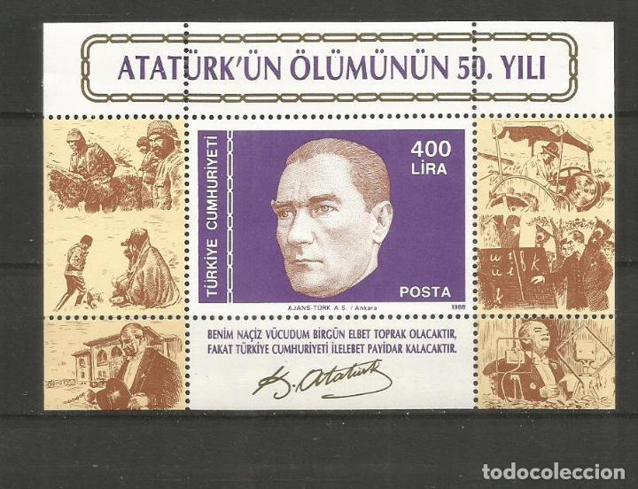TURQUIA HOJA BLOQUE YVERT NUM. 29 * NUEVA CON FIJASELLOS (Sellos - Extranjero - Europa - Turquía)