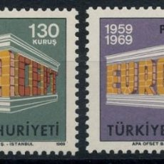 Sellos: TURQUIA1969 - EUROPA CEPT - YVERT Nº 1891-1892**. Lote 216749332
