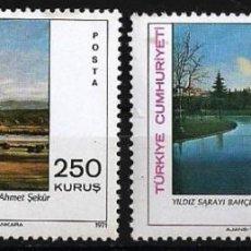 Sellos: TURQUIA1971 - PINTURAS - YVERT Nº 1976-1977**. Lote 216749657