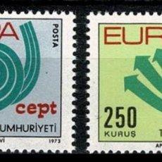 Sellos: TURQUIA 1973 - EUROPA CEPT - YVERT Nº 2050-2051**. Lote 216750212