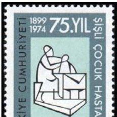 Sellos: TURQUIA 1974 - HOSPITAL PEDIATRA - YVERT Nº 2095**. Lote 216750525