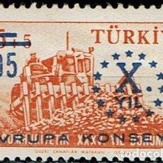 Sellos: TURKIA 1959 - 10º ANIVERSARIO CONSEJO DE EUROPA. Lote 217824087