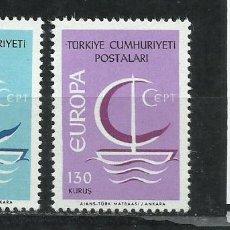 Sellos: 2543-TURQUIA SERIE COMPLETA EUROPA 1796/7 MNH**. Lote 218133791