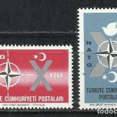 Sellos: 2555-TURQUIA SERIE COMPLETA NATO 1962 Nº1614/5 NUEVO MNH**. Lote 218134997