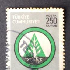 Timbres: 1977 TURQUÍA CONSERVACIÓN FORESTAL. Lote 221935537