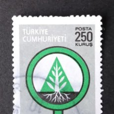 Timbres: 1977 TURQUÍA CONSERVACIÓN FORESTAL. Lote 221935805