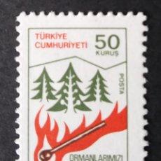Timbres: 1980 TURQUÍA CONSERVACIÓN FORESTAL. Lote 221936692