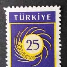 Timbres: 1959 TURQUÍA 25 ANIVERSARIO FACULTAD DE AGRICULTURA. Lote 221937017