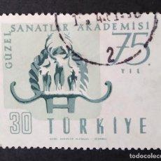 Sellos: 1957 TURQUÍA 75 ANIVERSARIO ACADEMIA BELLAS ARTES. Lote 222078995